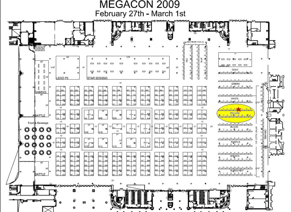 MegaCon Floor Plan