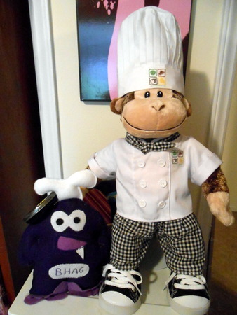 BHAG and Chef George hanging out in my office